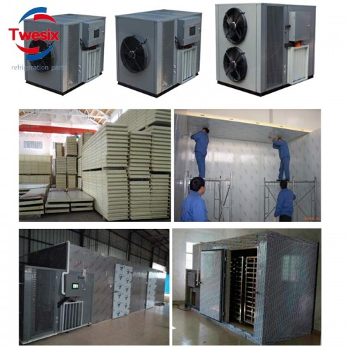Air Source Heat Pump Drying 2000kg Squid Abalone  Sardines Jerky Sticks with Hot Air to Dehumidifying and Drying Functions